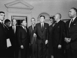 President Kennedy meets with Civil Rights leaders.