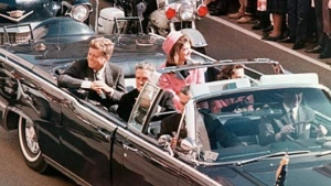 Kennedy's body slumping forward in the presidential limousine Photo courtesy of:http://www.mnn.com