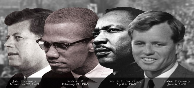 """Instead of turning from violence, America became even more violent: the assassination of Malcolm X, Martin Luther King, Jr., and Robert F. Kennedy."" Photo courtesy of: http://voicemalemagazine.org"