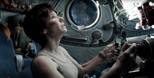 """Her return to the earth's atmosphere was risky.""  Photo courtesy of www.gravitymovie.warnerbros.com"